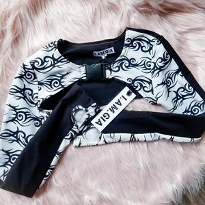 NWT Dollskill I AM GIA Sirus Half Top White Small